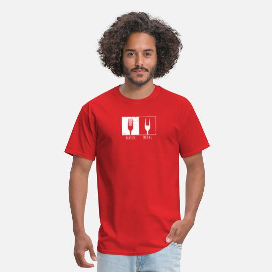 Forks T-Shirts - METAL FORK - Men's T-Shirt red