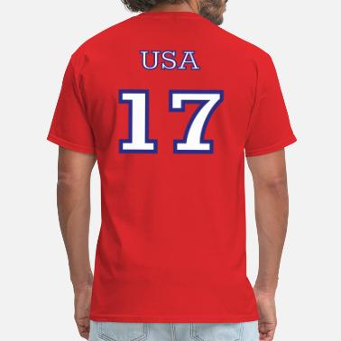 Numbers Team Qanon Number 17 - Team USA - Men's T-Shirt
