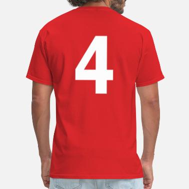 Four Team letter four 4 - Men's T-Shirt