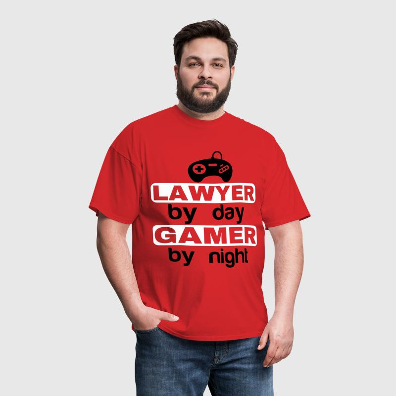 LAWYER BY DAY GAMER BY NIGHT  - Men's T-Shirt
