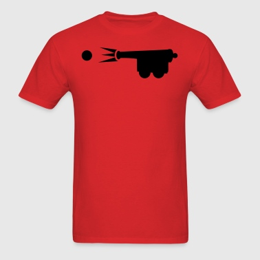old style cannon shooting cannon ball - Men's T-Shirt