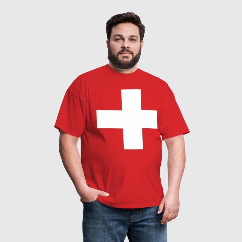 Swiss Cross - Cross - Switzerland - Symbol - Men's T-Shirt