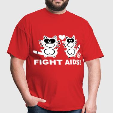 Fight Aids Statement Catpaw Design Statement HIV   - Men's T-Shirt