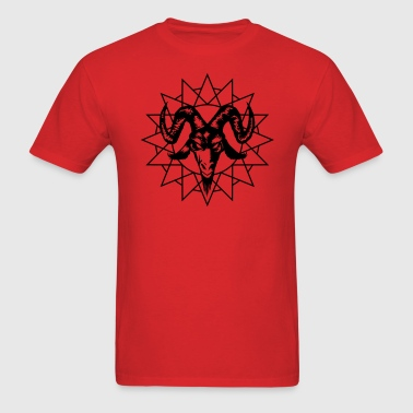 Goat Head with Chaos Star - Men's T-Shirt