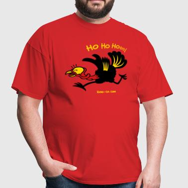 Christmas Turkey Running Away - Men's T-Shirt