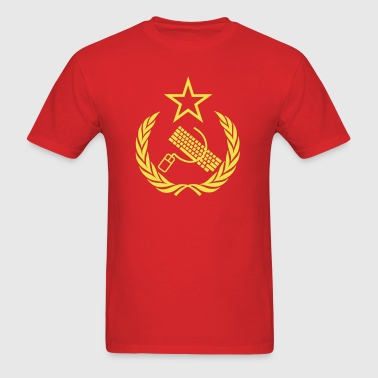 Communist Geek Nerd Flag - Men's T-Shirt