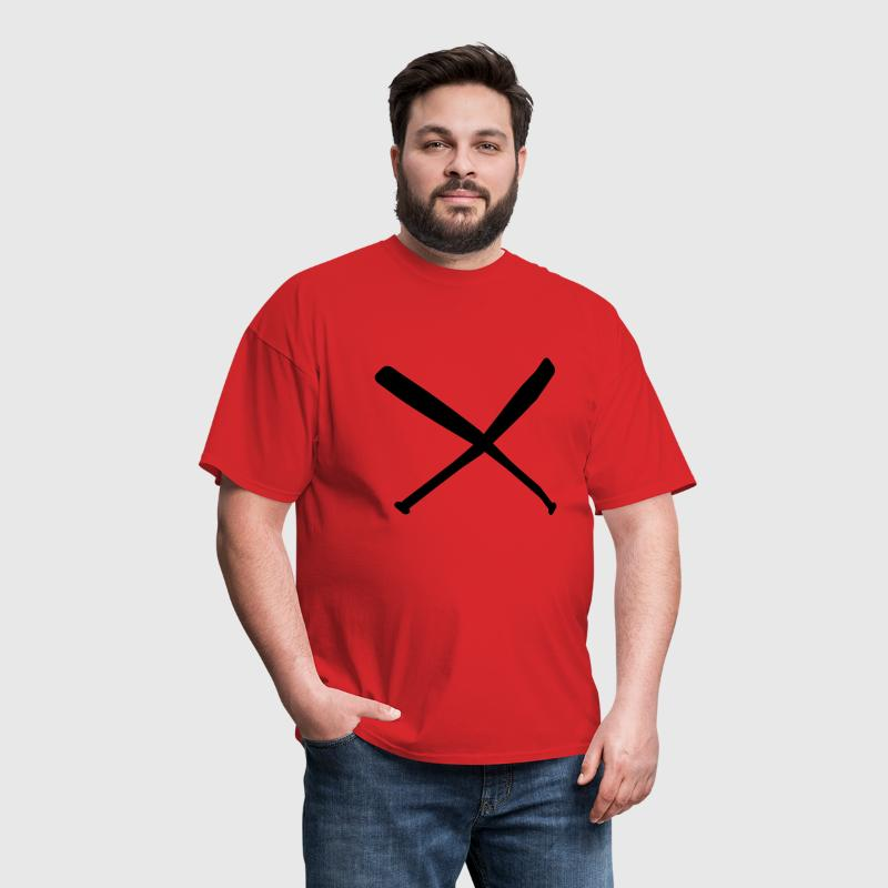 baseball bat crossed - Men's T-Shirt