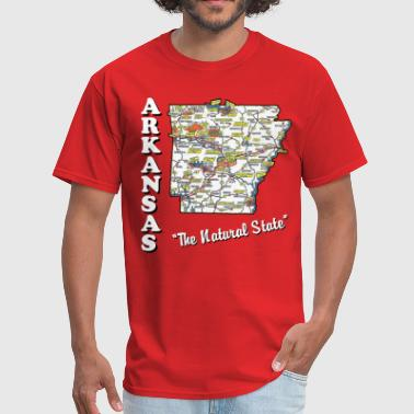 arkansas the natural state - Men's T-Shirt