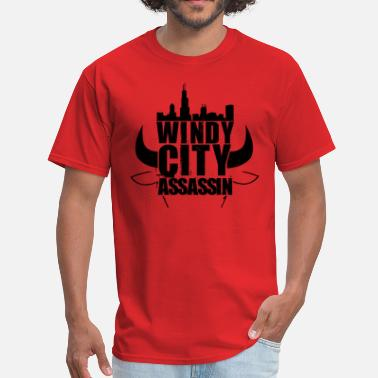 Chicago Bulls See Red windycity assassin - Men's T-Shirt
