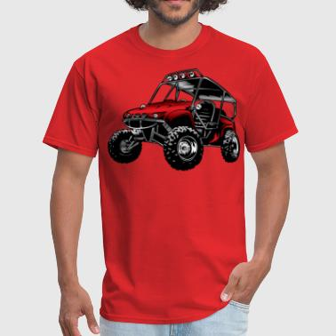 Atv Side By Side Red UTV Side By Side - Men's T-Shirt