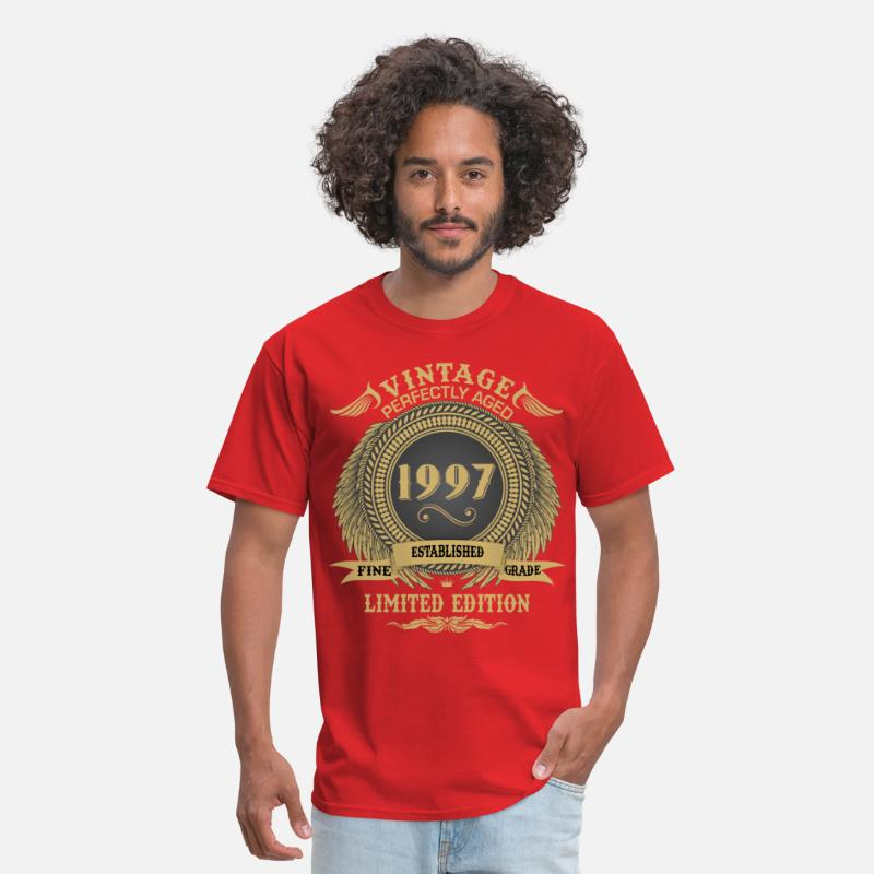 1998 T-Shirts - Vintage Perfectly Aged 1997 Limited Edition - Men's T-Shirt red