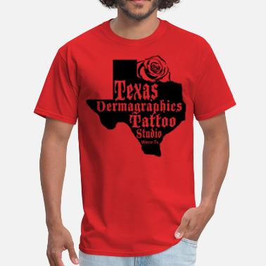 Tattoo Studio Texas Dermagraphics Texas Rose Logo copy.png - Men's T-Shirt