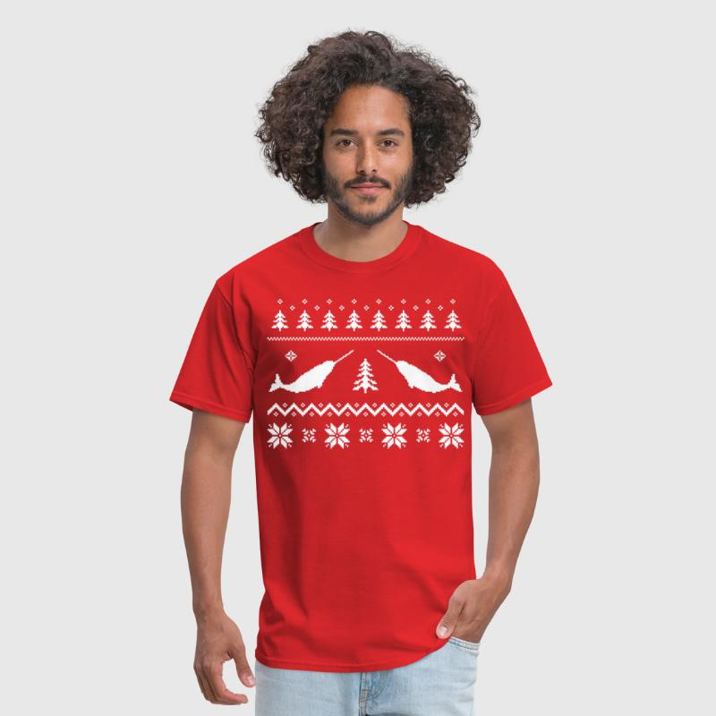 Ugly Narwhal Christmas Sweater - Men's T-Shirt