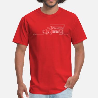 Red Store Grizzly Bears Near Pulaski's Candy Store! - Men's T-Shirt