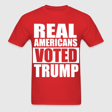 REAL AMERICANS VOTED FOR TRUMP - Men's T-Shirt
