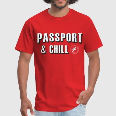 Passport & Chill-stamp - Men's T-Shirt