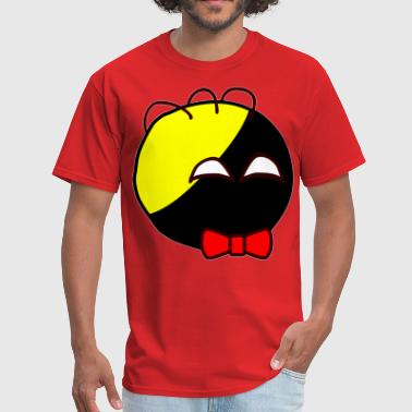 Ancap Anarchyball ancap with red bow tie sticker tucker - Men's T-Shirt