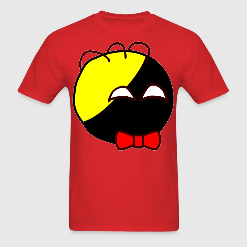 Anarchyball ancap with red bow tie sticker tucker - Men's T-Shirt