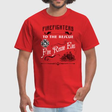 Vintage Firefighter  - Men's T-Shirt