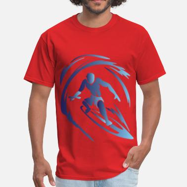 Blue Surf Surfing 1 Blue - Men's T-Shirt