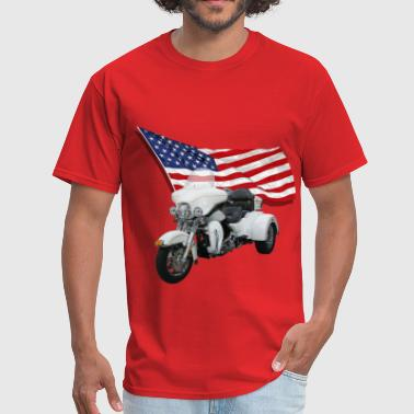 Trike With Flag - Men's T-Shirt