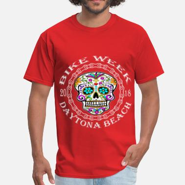 Daytona Bike Week Daytona Bike Week Sugar Skull 2018 ©WhiteTigerLLC. - Men's T-Shirt