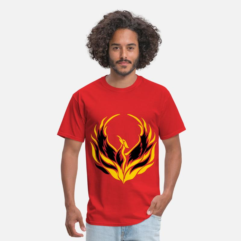 Bird T-Shirts - Phoenix Bird - Men's T-Shirt red