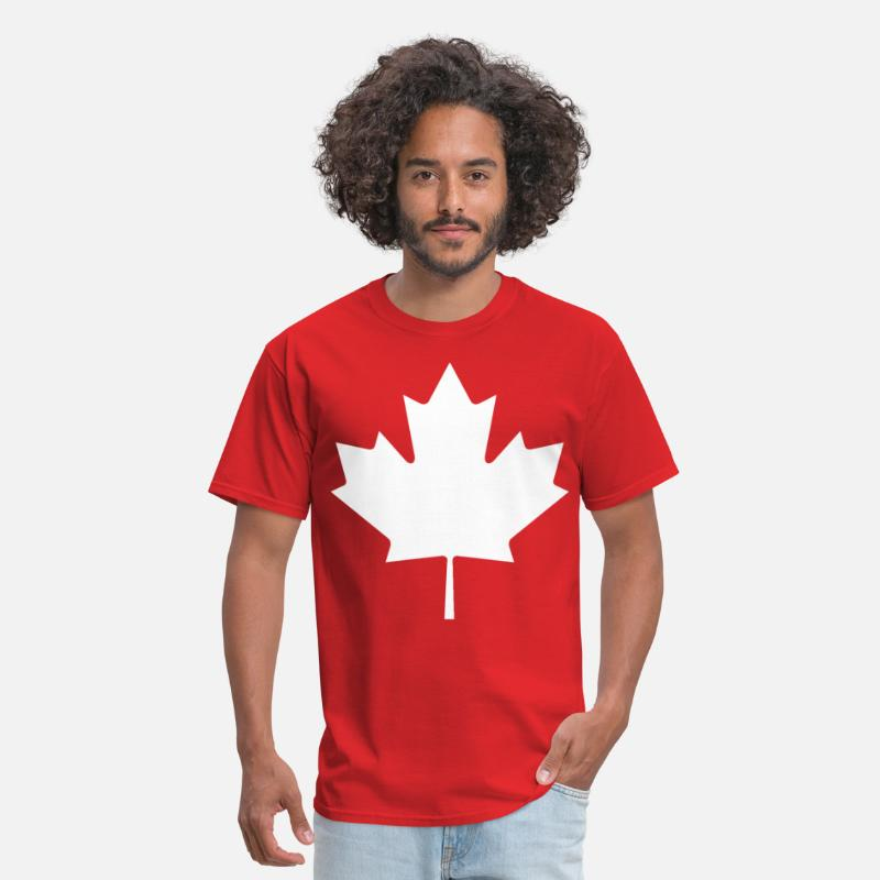 Canada T-Shirts - Canada Maple leaf white - Men's T-Shirt red