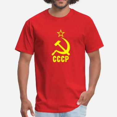 Russia Soviet CCCP Hammer and sickle - Men's T-Shirt