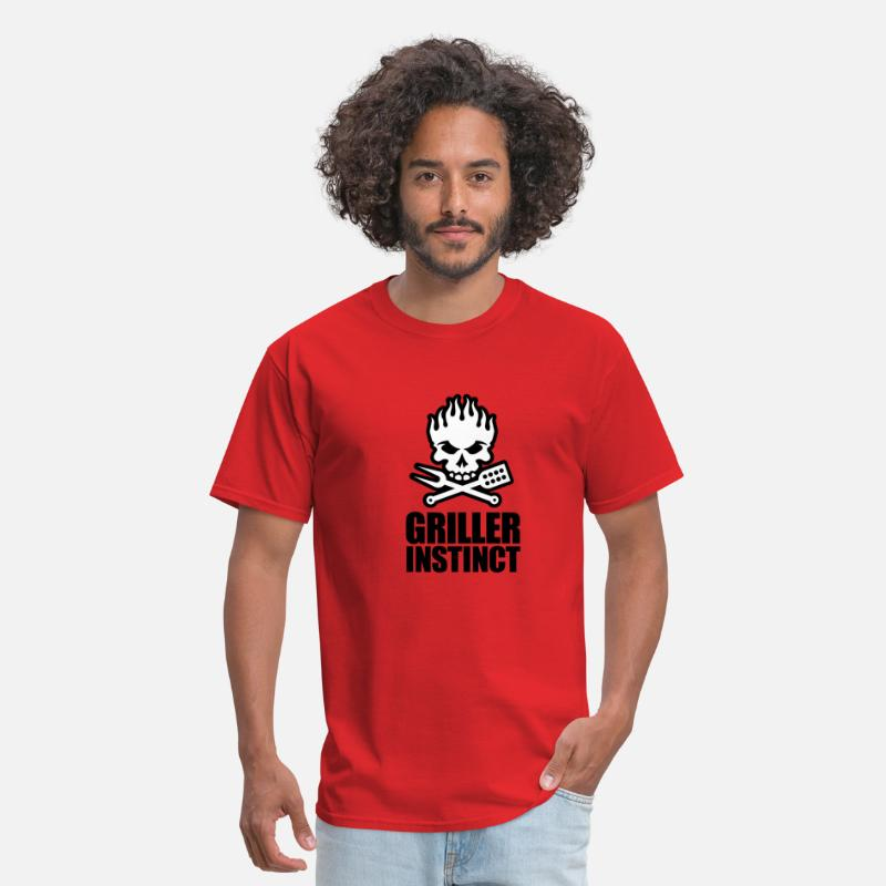 Grill T-Shirts - Griller instinct - Men's T-Shirt red