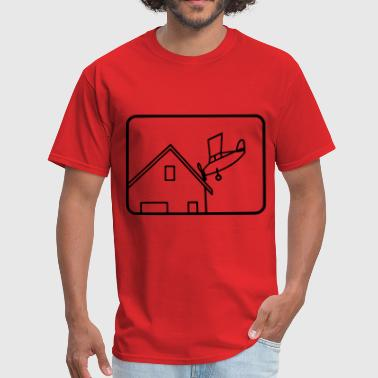Plane Crashing on House - Men's T-Shirt