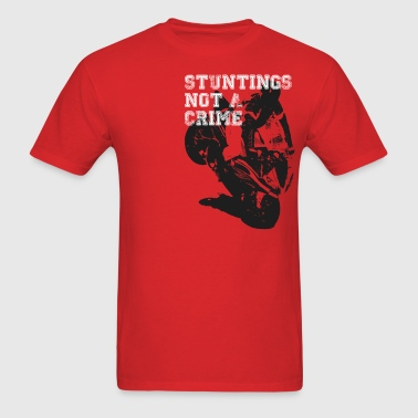 Motorcycle Stunting Crime - Men's T-Shirt
