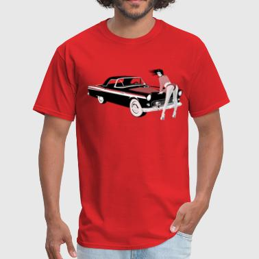 Sexy girl & hot car (dd print) - Men's T-Shirt