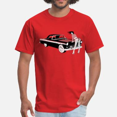 Bitches Hot Girl Sexy girl & hot car (dd print) - Men's T-Shirt