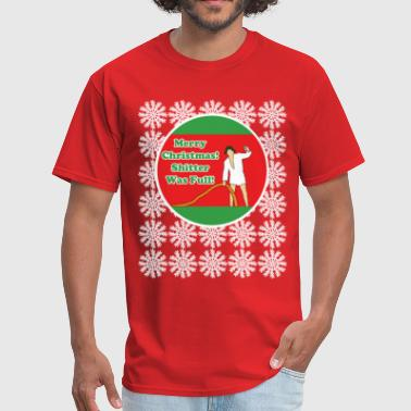 Glum Vacation Shitter w/Snowflakes - Men's T-Shirt