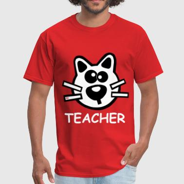 Teacher Cat School - Men's T-Shirt