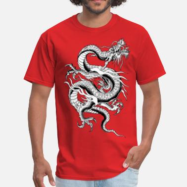 Pixels Dungeon Chinese Dragon ( HD Pixel Design ) - Men's T-Shirt