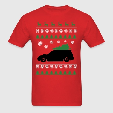 Forester XT Christmas Sweater (white snowflakes)  - Men's T-Shirt