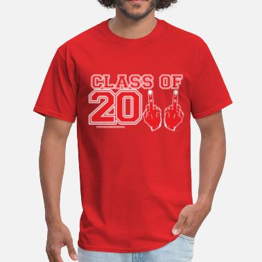 Graduate Fucking Class of 2011 FU Graduation Red and White - Men's T-Shirt