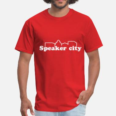 Speaker speakercitylogo - Men's T-Shirt