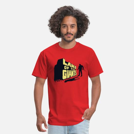 Irwin Allen T-Shirts - Land Of The Giants - Men's T-Shirt red