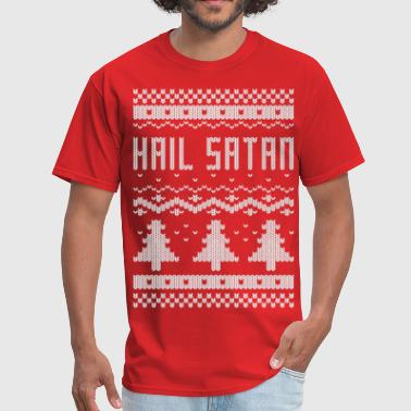 Ugly Hail Satan Christmas T-Shirt - Men's T-Shirt