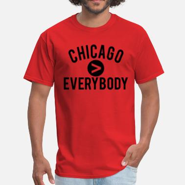 Chicago Vs Everybody Chicago  Everybody - Men's T-Shirt