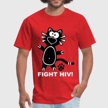 Stop Aids Fight HIV Aids Gay Catpaw Design Statement Stop  - Men's T-Shirt