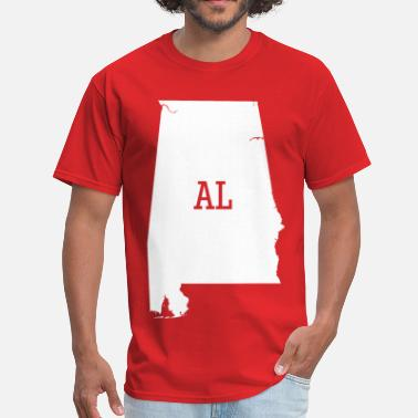 The Yellowhammer State Alabama State Map AL - Men's T-Shirt