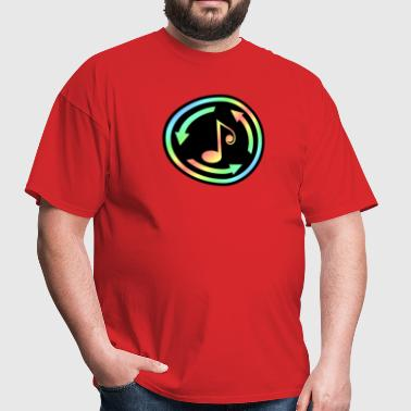 Music Non Stop Colorful - Men's T-Shirt