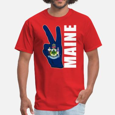 Maine Flag MAINE FLAG - Men's T-Shirt