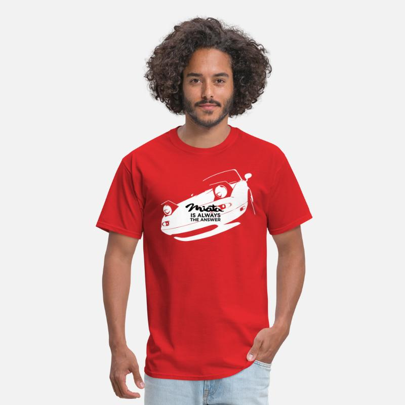 Classic T-Shirts - Miata is always the answer - Men's T-Shirt red