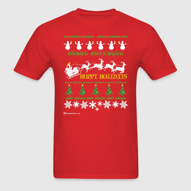 Ugly Xmas Beer Sweater - Men's T-Shirt