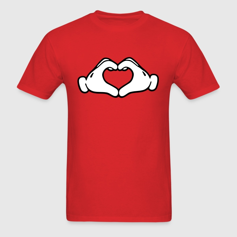 Mickey LOVE hands - Men's T-Shirt